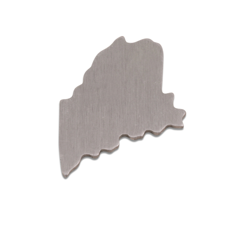 Metal Stamping Blanks Aluminum Maine State Blank, 18g