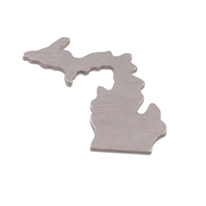 Metal Stamping Blanks Aluminum Michigan State Blank, 18g