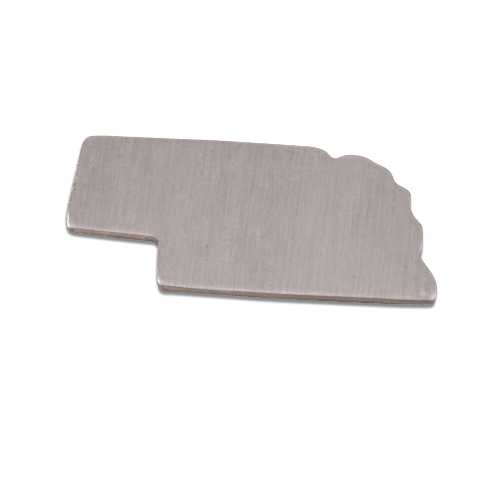 Metal Stamping Blanks Aluminum Nebraska State Blank, 18g