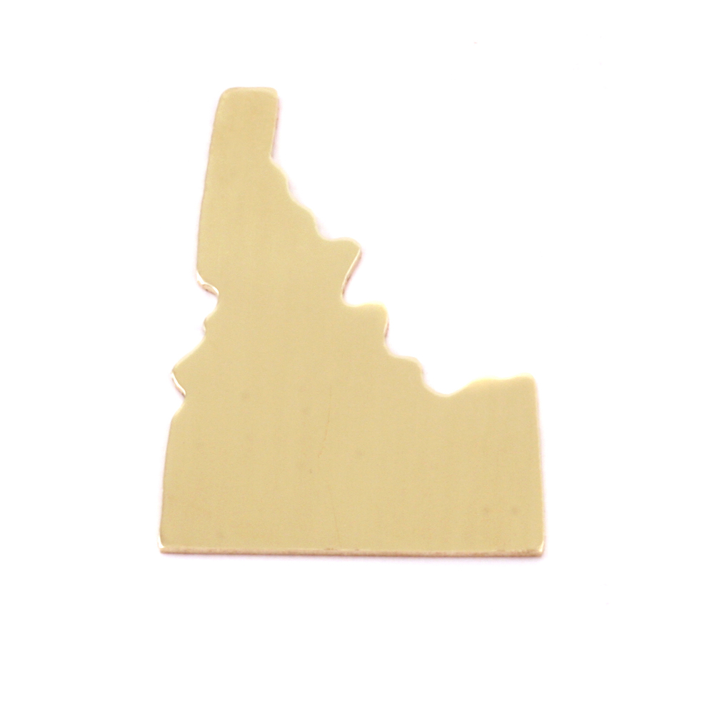 Metal Stamping Blanks Brass Idaho State Blank, 24g