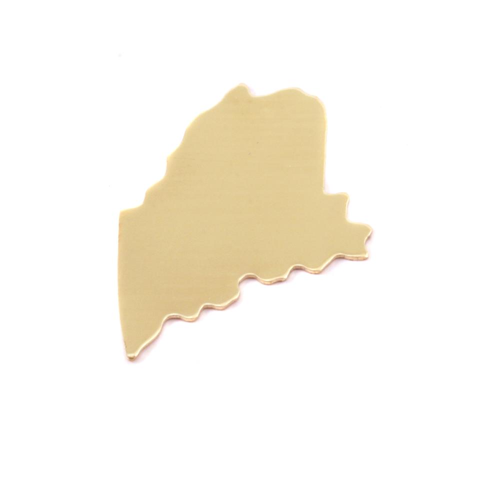 Metal Stamping Blanks Brass Maine State Blank, 24g
