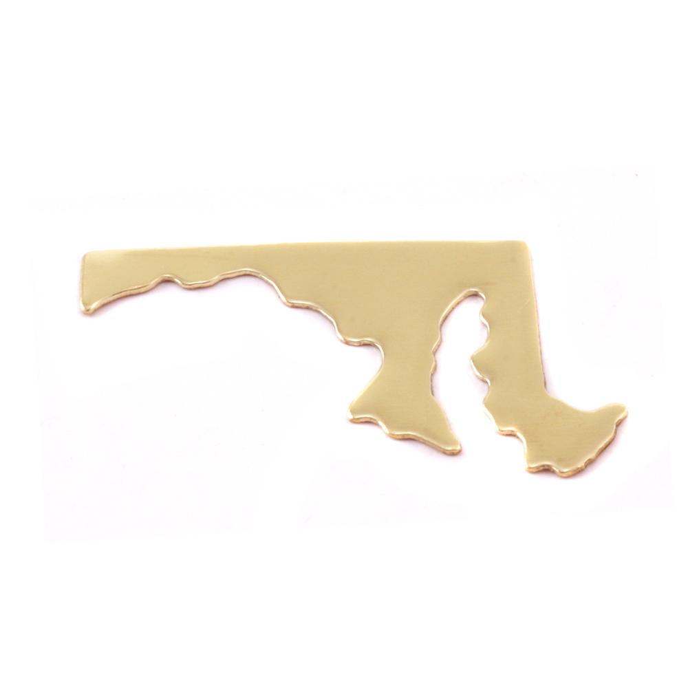 Metal Stamping Blanks Brass Maryland State Blank, 24g