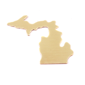 Metal Stamping Blanks Brass Michigan State Blank, 24g