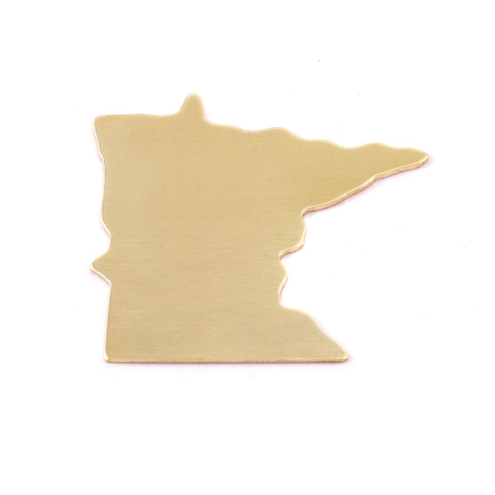 Metal Stamping Blanks Brass Minnesota State Blank, 24g
