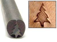 Metal Stamping Tools Sequoia Tree Design Stamp