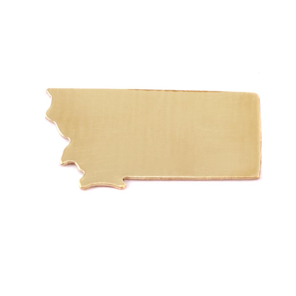 Metal Stamping Blanks Brass Montana State Blank, 24g