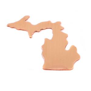 Metal Stamping Blanks Copper Michigan State Blank, 24g