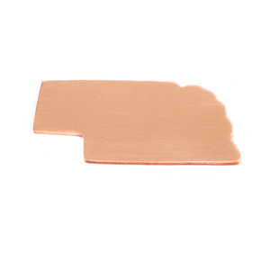 Metal Stamping Blanks Copper Nebraska State Blank, 24g