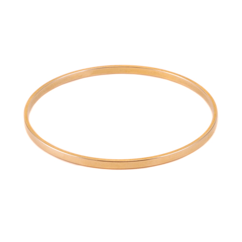 Metal Stamping Blanks Gold Plated Flat Bangle Bracelet, 1/8""