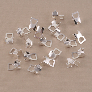 Clasps & Findings Rhodium Cup Chain Connectors for 4mm Crystal, 10 pairs