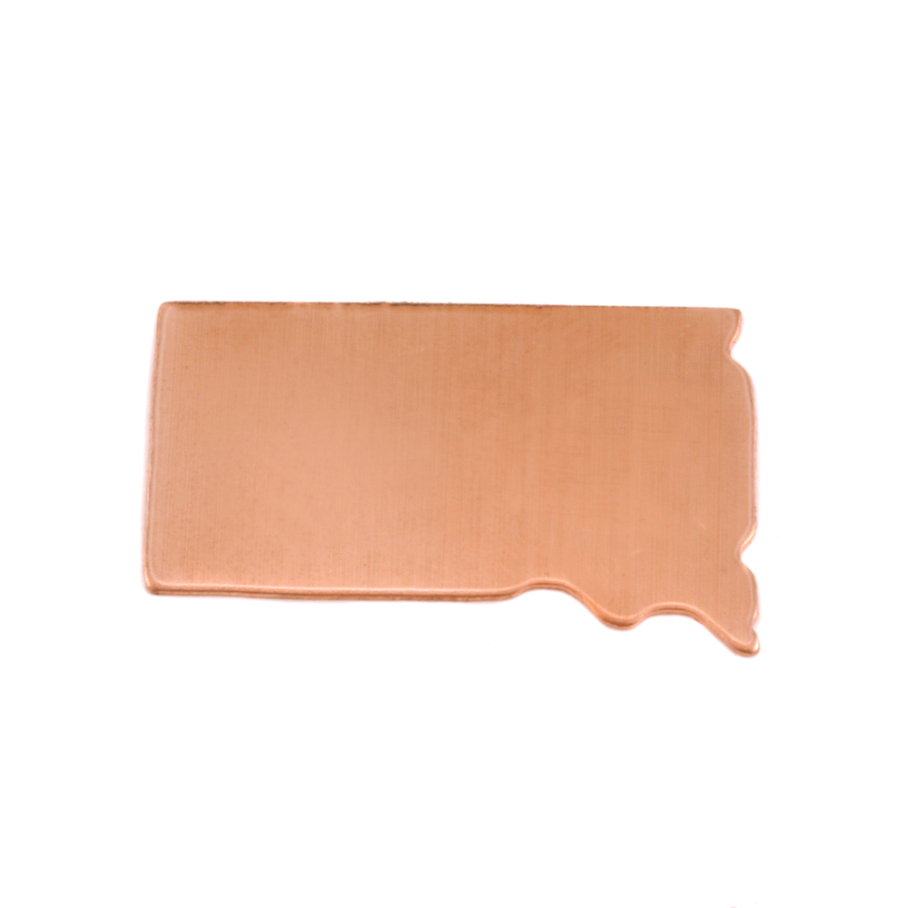 Metal Stamping Blanks Copper South Dakota State Blank, 24g