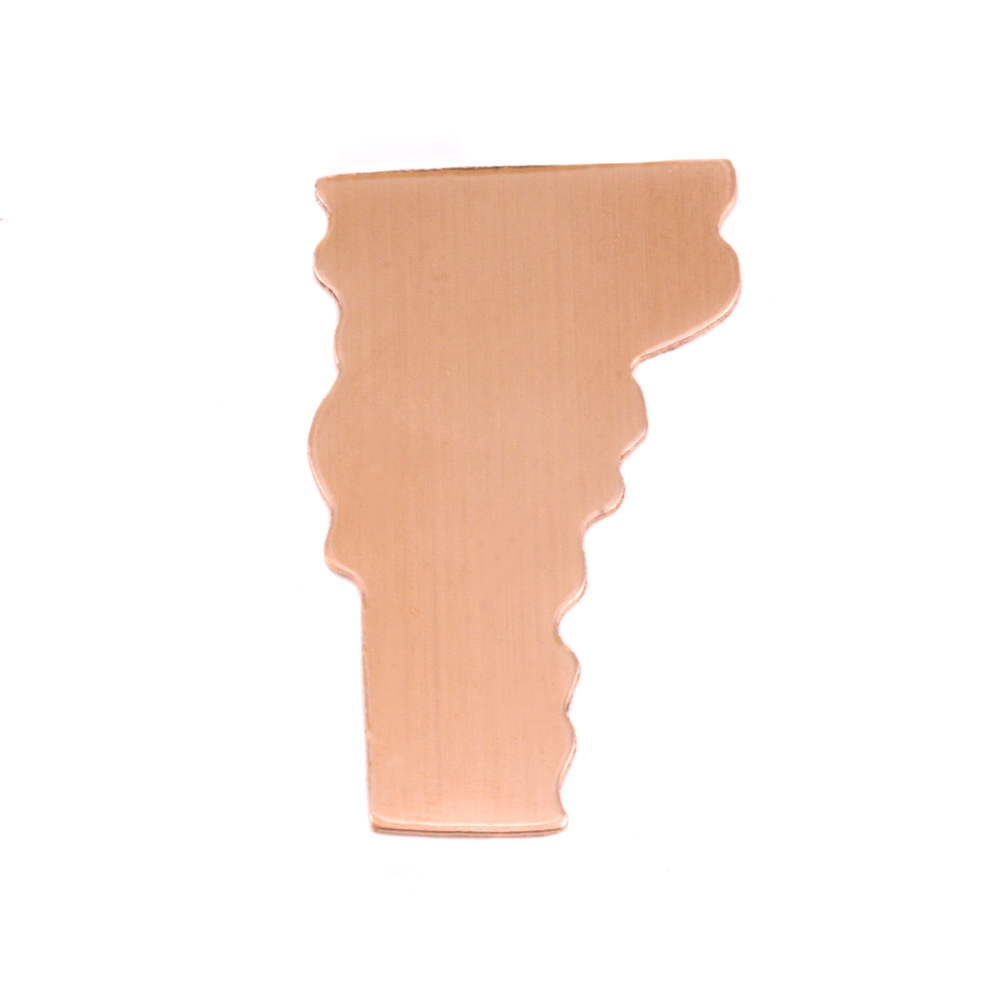 Metal Stamping Blanks Copper Vermont State Blank, 24g