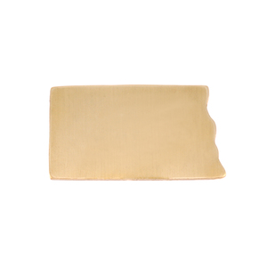 Metal Stamping Blanks Brass North Dakota State Blank, 24g