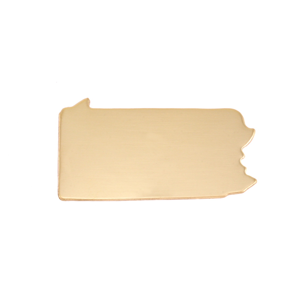 Metal Stamping Blanks Brass Pennsylvania State Blank, 24g