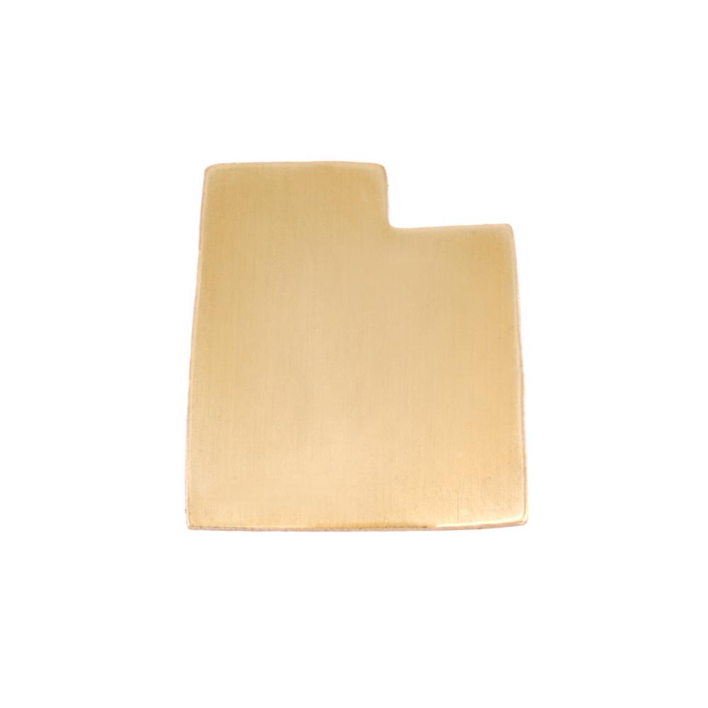 Metal Stamping Blanks Brass Utah State Blank, 24g