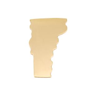 Metal Stamping Blanks Brass Vermont State Blank, 24g