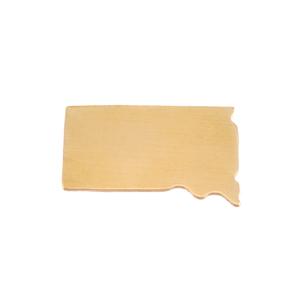 Metal Stamping Blanks Brass South Dakota State Blank, 24g