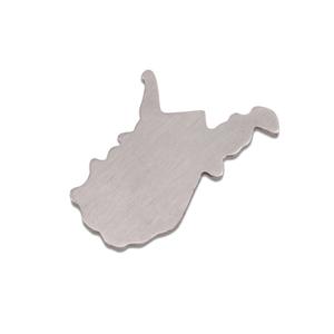 Metal Stamping Blanks Aluminum West Virginia State Blank, 18g
