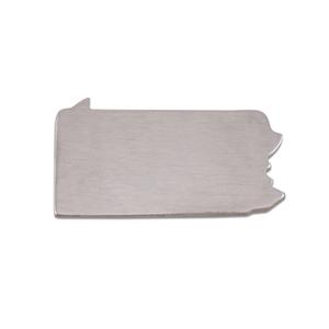 Metal Stamping Blanks Aluminum Pennsylvania State Blank, 18g