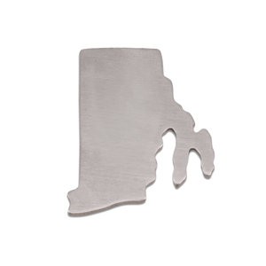 Metal Stamping Blanks Aluminum Rhode Island State Blank, 18g