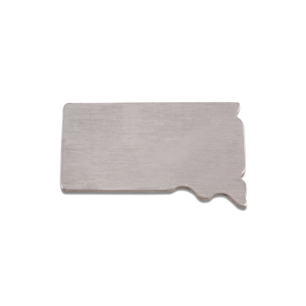 Metal Stamping Blanks Aluminum South Dakota State Blank, 18g