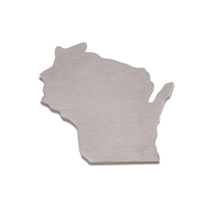 Metal Stamping Blanks Aluminum Wisconsin State Blank, 18g