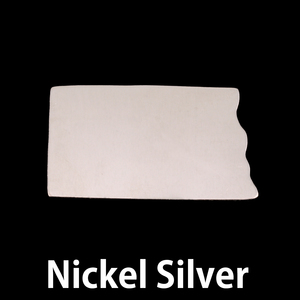 Metal Stamping Blanks Nickel Silver North Dakota State Blank, 24g