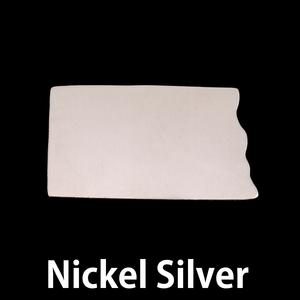 Metal Stamping Blanks Nickel Silver North Dakota State Blank, 24g
