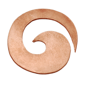 Metal Stamping Blanks Copper Spiral Blank, 22g