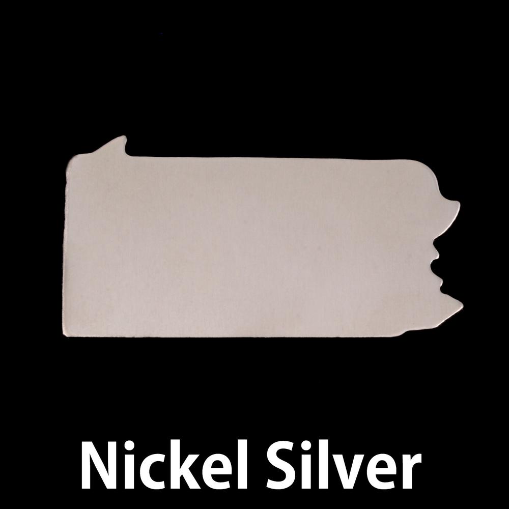 Metal Stamping Blanks Nickel Silver Pennsylvania State Blank, 24g