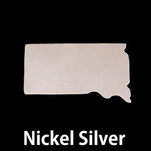 Metal Stamping Blanks Nickel Silver South Dakota State Blank, 24g