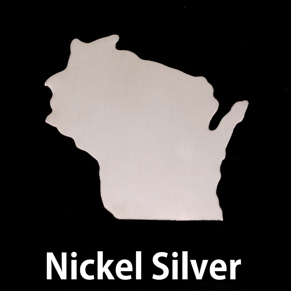 Metal Stamping Blanks Nickel Silver Wisconsin State Blank, 24g