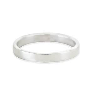 Metal Stamping Blanks Sterling Silver Ring Stamping Blank, 3mm Wide, SIZE 4, *PLEASE READ PRODUCT NOTE