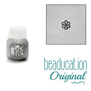 Metal Stamping Tools Daisy Flower Face 2.5mm Metal Design Stamp - Beaducation Original