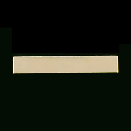 "Metal Stamping Blanks Gold Filled Rectangle Bar, 38mm (1.50"") x 6.4mm (.25""), 24g"