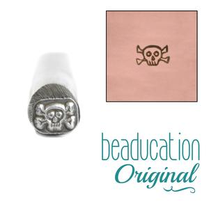 Metal Stamping Tools Skull and Crossbones Metal Design Stamp - Beaducation Original