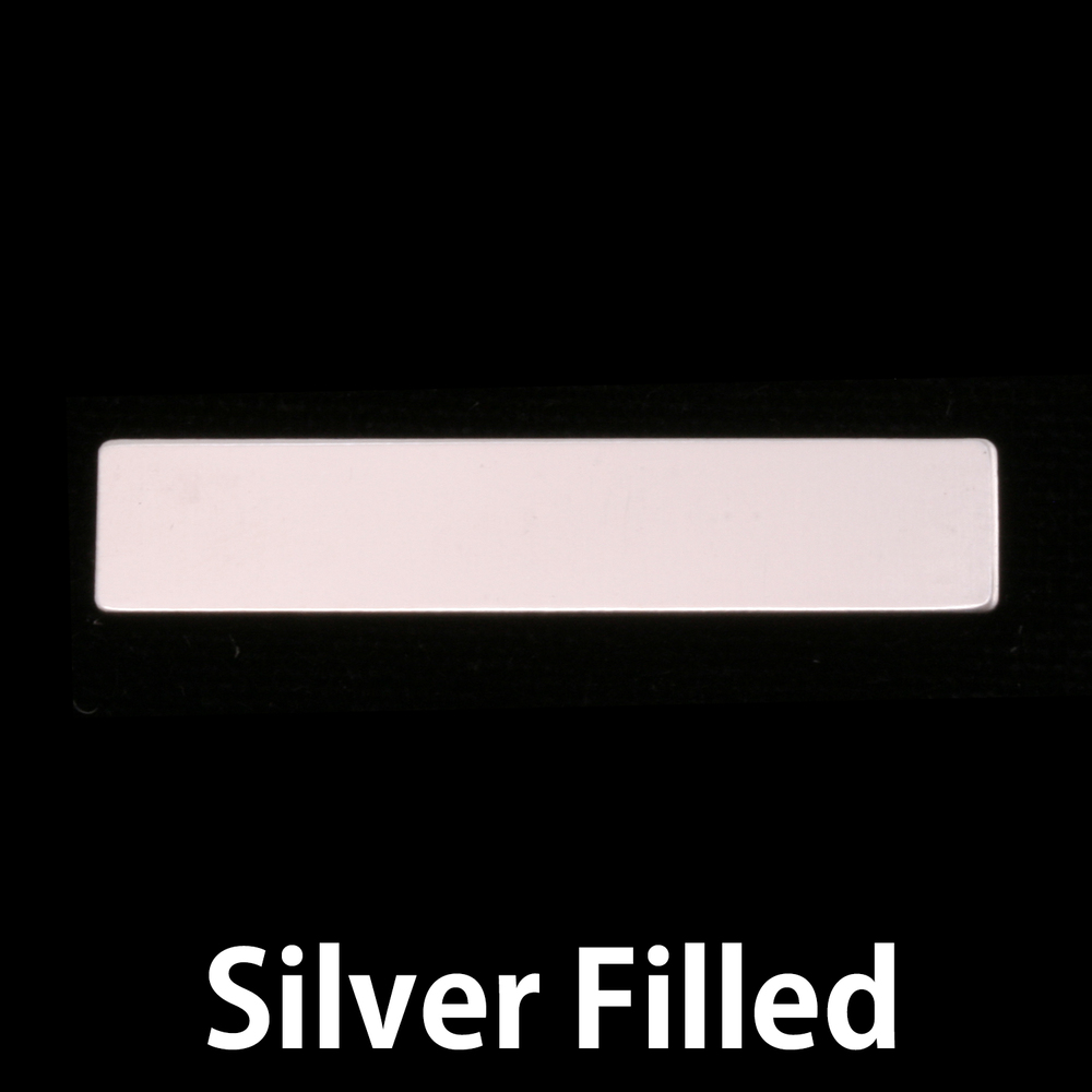 "Metal Stamping Blanks Silver Filled 1.5"" Rectangle, 24g"