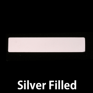 "Metal Stamping Blanks Silver Filled Rectangle, 38mm (1.50"") x 6.4mm (.25""), 24g"