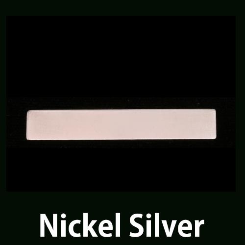 """Metal Stamping Blanks Nickel Silver 1.25"""" Rectangle, 24g"""