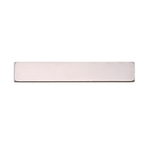 "Metal Stamping Blanks Aluminum Rectangle, 38mm (1.50"") x 6.35mm (.25""), 18g"