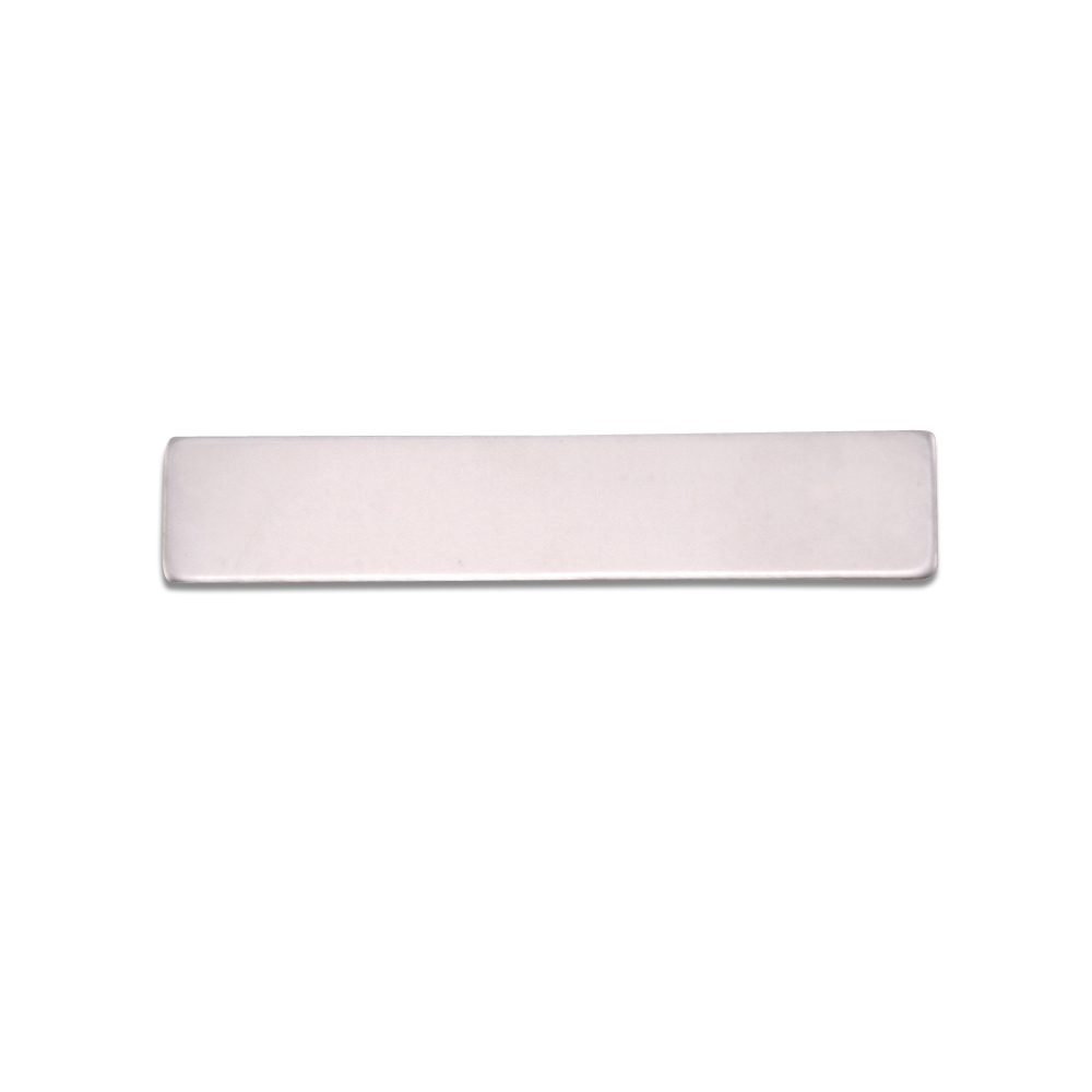 "Metal Stamping Blanks Aluminum Rectangle, 31.8mm (1.25"") x 6.4mm (.25""), 18g"
