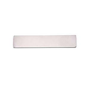 "Metal Stamping Blanks Aluminum Rectangle, 31.8mm (1.25"") x 6.4mm (.25""), 18g, Pk of 5"