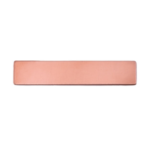 "Metal Stamping Blanks Copper Rectangle, 38mm (1.50"") x 6.4mm (.25""), 24g"