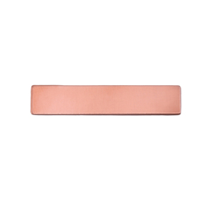 "Metal Stamping Blanks Copper Rectangle, 31.8mm (1.25"") x 6.4mm (.25""), 24g, Pack of 5"