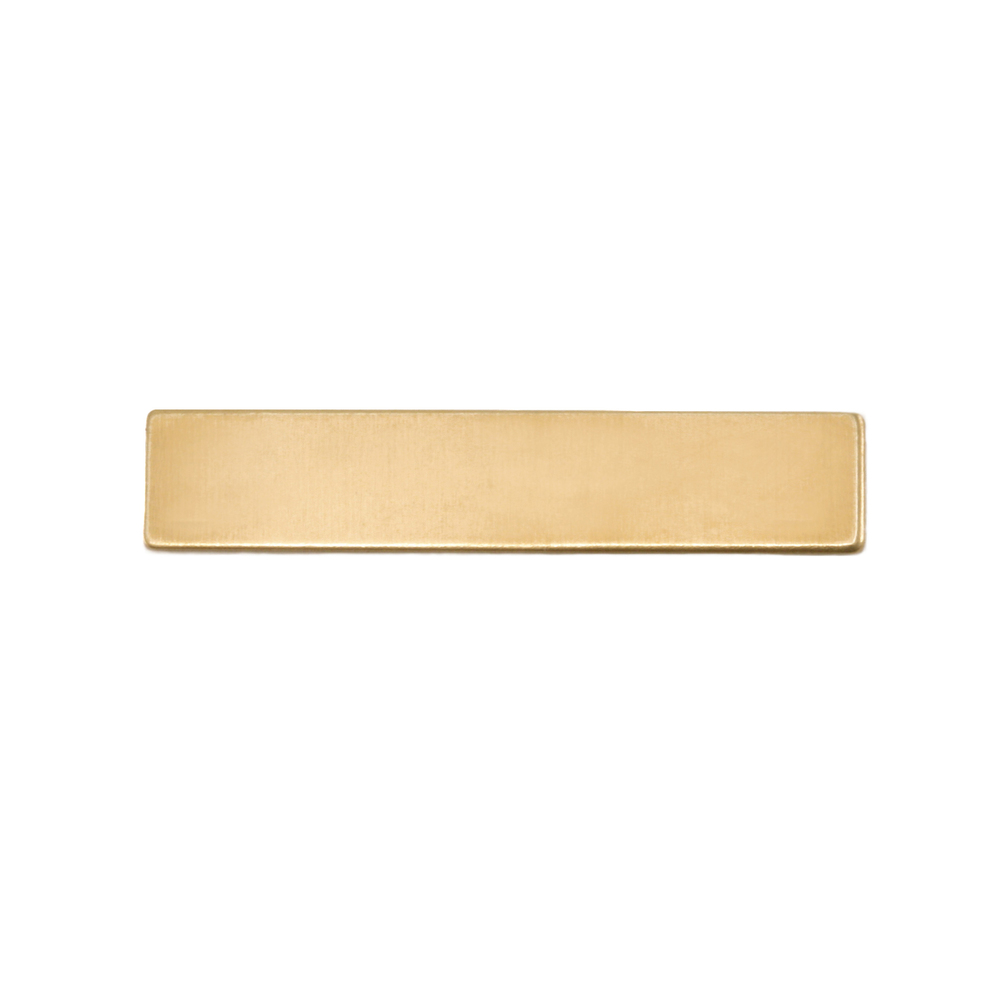 """Metal Stamping Blanks Brass Rectangle, 31.8mm (1.25"""") x 6.4mm (.25""""), 24g"""