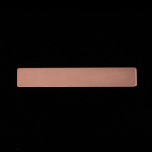 "Metal Stamping Blanks Rose Gold Filled Rectangle Bar, 38mm (1.50"") x 6.4mm (.25""), 24g"