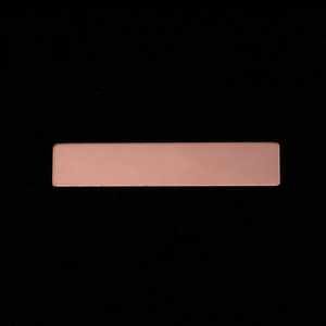 "Metal Stamping Blanks Rose Gold Filled Rectangle Bar, 31.8mm (1.25"") x 6.4mm (.25""), 24g"