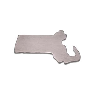 Metal Stamping Blanks Aluminum Massachusetts State Blank, 18g