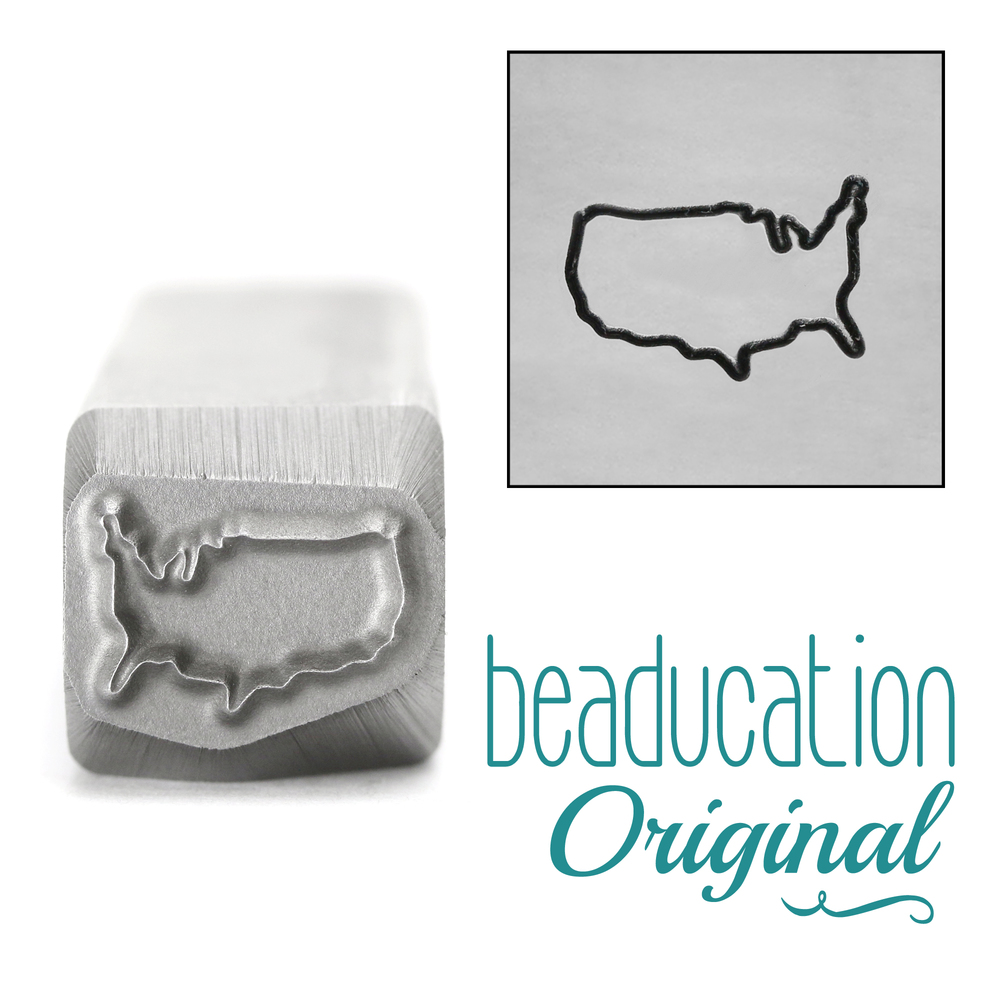 United States Metal Design Stamp-Beaducation Original