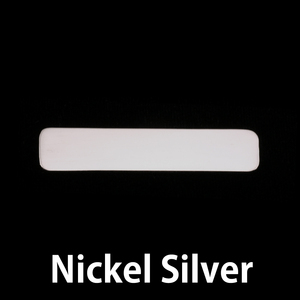 "Metal Stamping Blanks Nickel Silver Rounded Rectangle, 45mm (1.77"") x 10mm (.39""), 20g, Pack of 5"